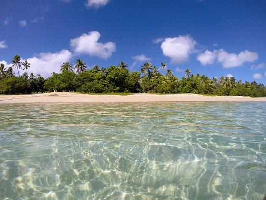 Uoleva Island, Tonga: View of our beach