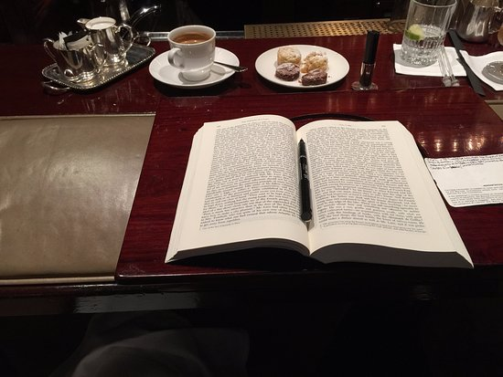 The Chinnery: Wait staff offered me a stand to read my book + coffee = great service as always