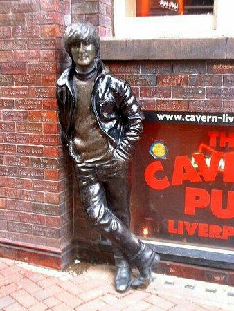 Statue of John Lennon on Mathew Street.