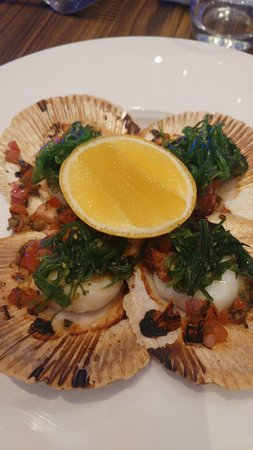 Pelican Waters Golf Resort & Spa: Scallop entree nicely cooked and presented