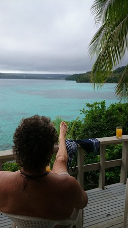 Mala Island Resort : Our private balcony from our fale