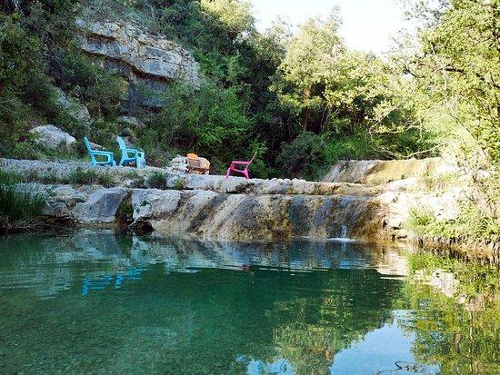Chambre d'hôtes Le Moulinage : coin baignade au bord de la rivière
