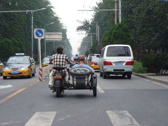 Side-car Motorcycles Trips - Beijing Sideways: See the Beijing traffic from a different angle