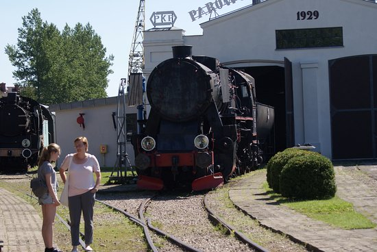 Koscierzyna, Poland: old train in the museum