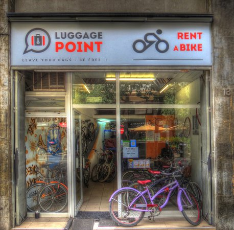 Luggage Point & Rent a Bike: Our Shop! Welcome...