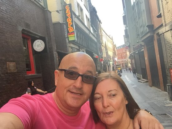 Mathew Street: Bit quieter on a Sunday morning