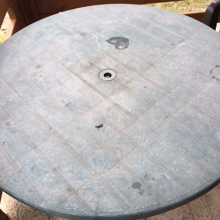 Patio Table !!! Disgusting !! YOU CAN BUY NEW for £9.99 !!!!!