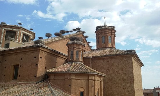 Alfaro, Spanien: Vista de los nidos, desde el mirador