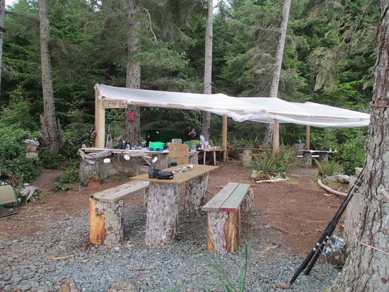 Black Creek, Canada: Camp Kitchen and dining hall