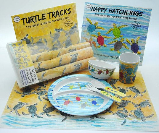 Holetown, Barbados: Kid's dinnerware and PVC mat set