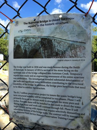 Sharpsburg, MD: Burnside Bridge under repair