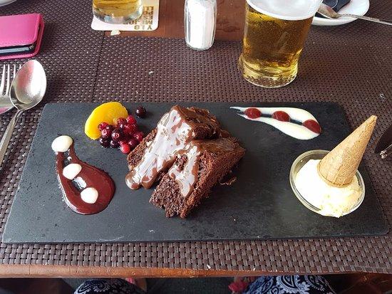 La Terrazza: Chocolate brownie.