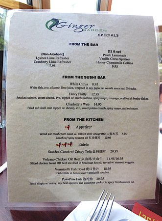 Amherst, MA: Some innovative menu specials offered