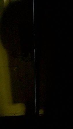 Woodland, WA: that's the huge gape between door and jamb.