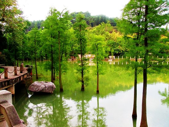 Nanning, China: The glittering lake