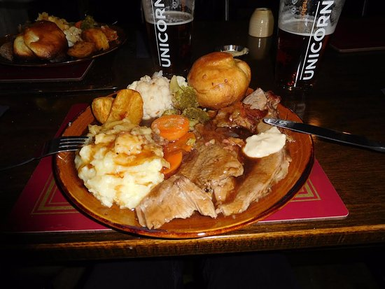 The Bulls Head Public House, Restaurant & Guest House: Roast Beef Sunday Lunch - delicious!