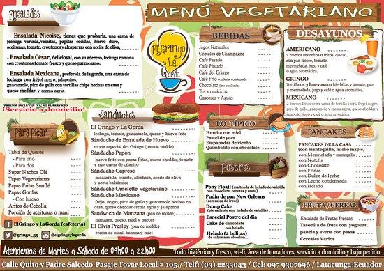El Gringo y La Gorda: Menú Vegetariano