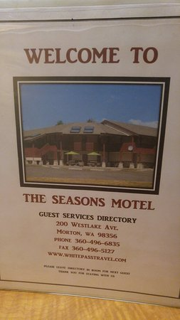 Morton, WA: Seasons Motel