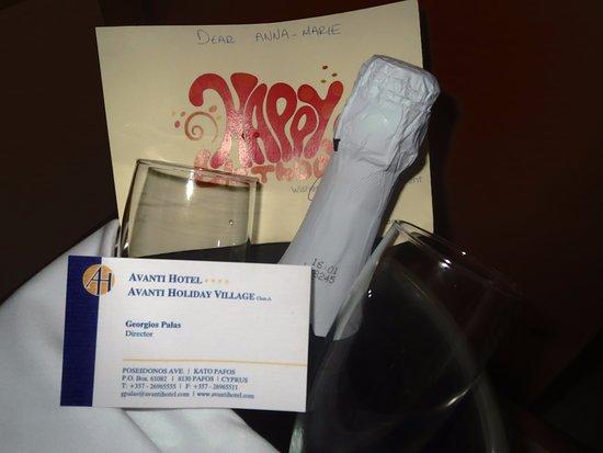 Avanti Hotel: They don't forgot my birthday !