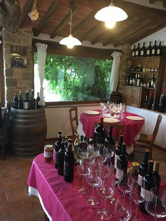 Take Me Out in Tuscany : This was where we ate lunch. It was a beautiful family owned farm overlooking the Tuscan hills.