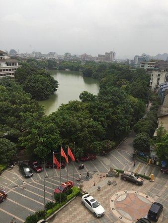 Guilin Bravo Hotel: il panorama dalla nostra stanza, all'ottavo piano