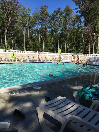 Primative camping review of timberline campground for Pool show michigan