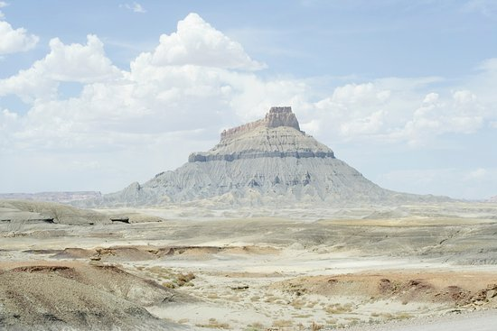 Caineville, UT: Factory Butte seen from Utah Highway 24