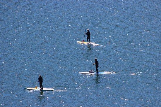 Bridger Teton National Forest: Water sports on the lake