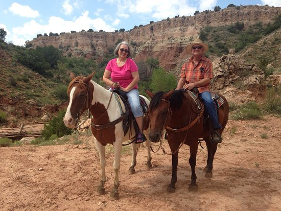 Canyon, TX: This is a wonderful place to take a ride. I'm a beginner and they took great care of me. These h