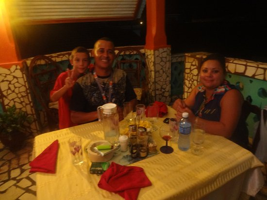 Puerto Padre, Cuba: Last night at a restaurant with my hosts