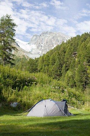 un emplacement du camping d'Arolla
