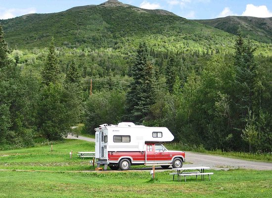 Slana, AK: One of the several campsites available.