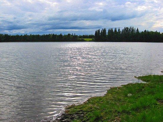 Slana, AK: Grizzly Lake at campground.