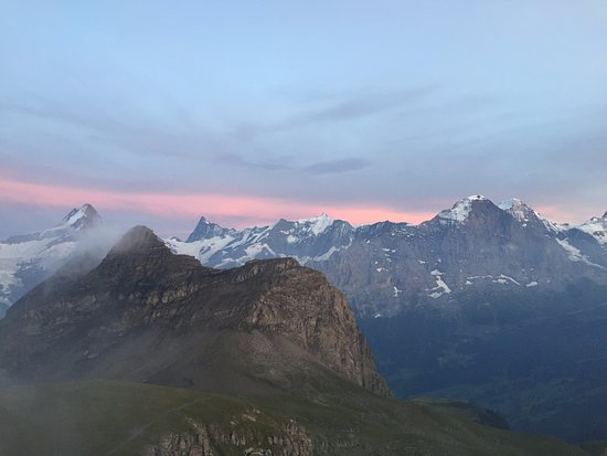 Berghotel Faulhorn: Sonnenuntergang, Faulhorn