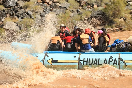 Hualapai River Runners: The first big splash will take your breath away with the frigid water temperatures of 45-55 degr