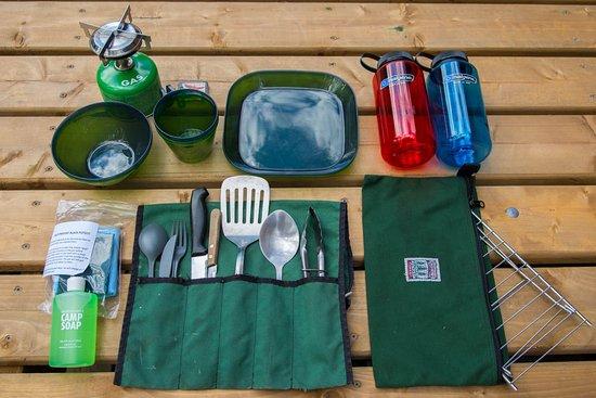 Oxtongue Lake, Canada: Kitchen set