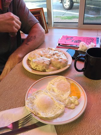 Breakfast at Rosy's.  BEST hash browns EVER!!! Best breakfast in town!!!