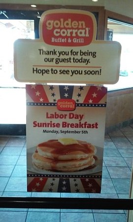 Open Labor Day 2016 - Picture of Golden Corral, Kennesaw - TripAdvisor
