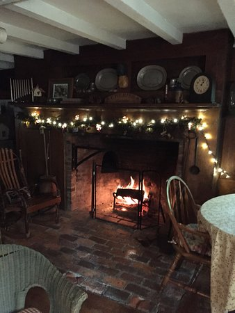 Lyons, NY: Colonial fireplace in living/dining room