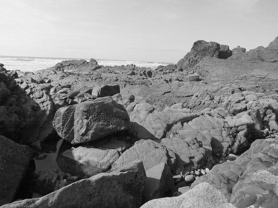 Stibb, UK: a very rocky beach