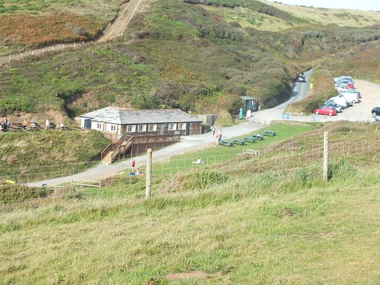 Stibb, UK: the cafe and car park
