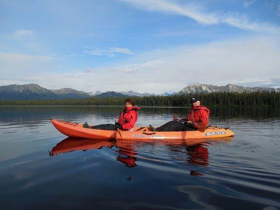 Kayaking on Byers Lake