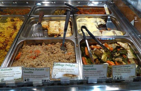 Sassool: Some of the warm food selections