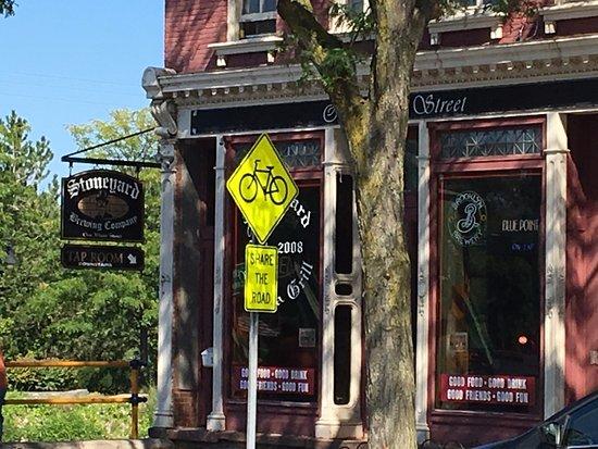 Brockport, Nova York: Stoneyard Brewing Company - enrtance