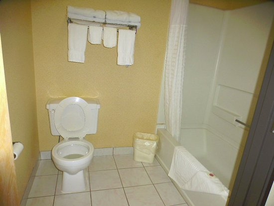 Wheelersburg, OH: The bathroom was large and clean.