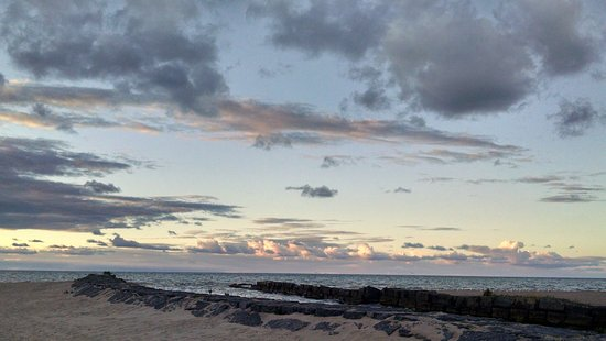 Fair Haven, estado de Nueva York: sunset on the beach/Lake Ontario