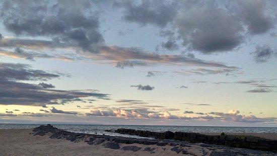 Fair Haven, NY: sunset on the beach/Lake Ontario