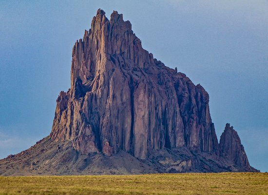 Shiprock, NM: We drove out to the rock or within about 2 miles of it.