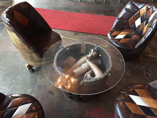 Wine Barrel Chairs And Manequin Parts In Table Picture Of Voodoo
