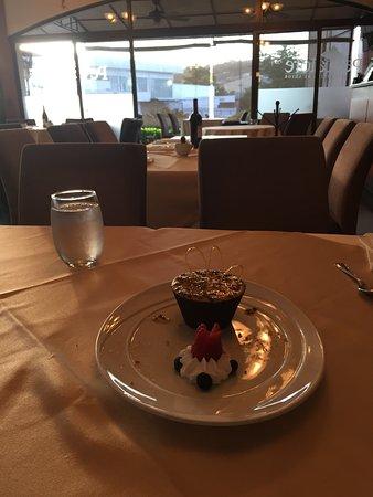 Restaurante Pescatore: Delicioso postre, muy liviano!